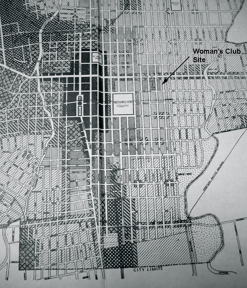 1929 Zoning Map showing the neighborhood of the SJ Woman's Club