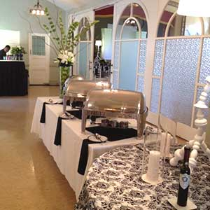 A serving station in the tearoom of the San Jose Woman's Club